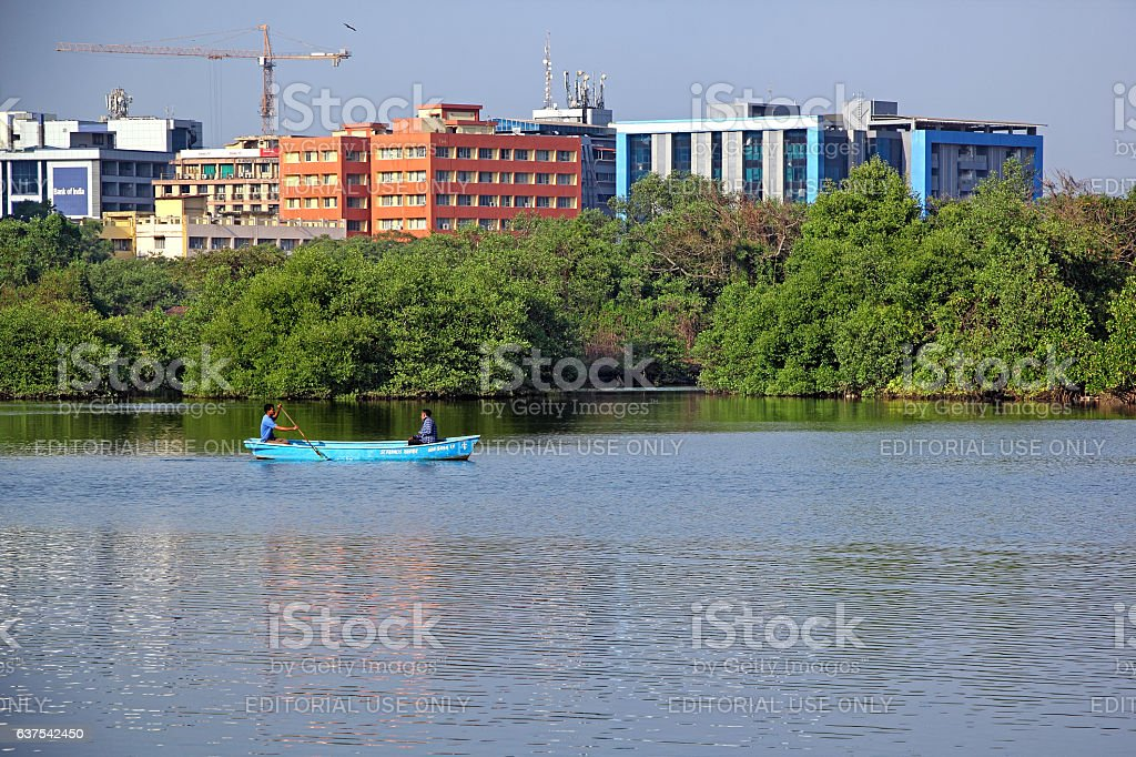 Local Fishermen in Boat stock photo