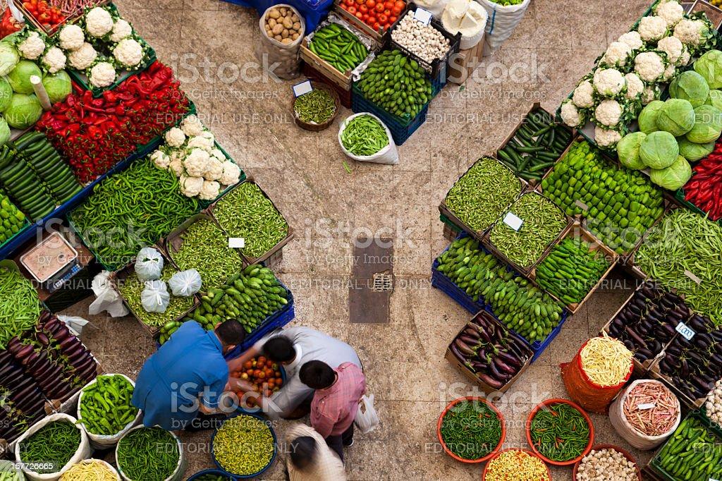 Local fruit and vegetable bazaar, Konya, Turkey royalty-free stock photo