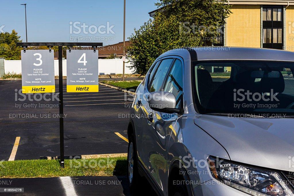 Local Hertz Car Rental Location III stock photo