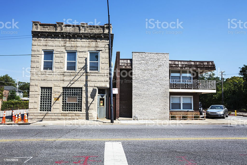 Local Industrial Building in Chicago Neighborhood royalty-free stock photo