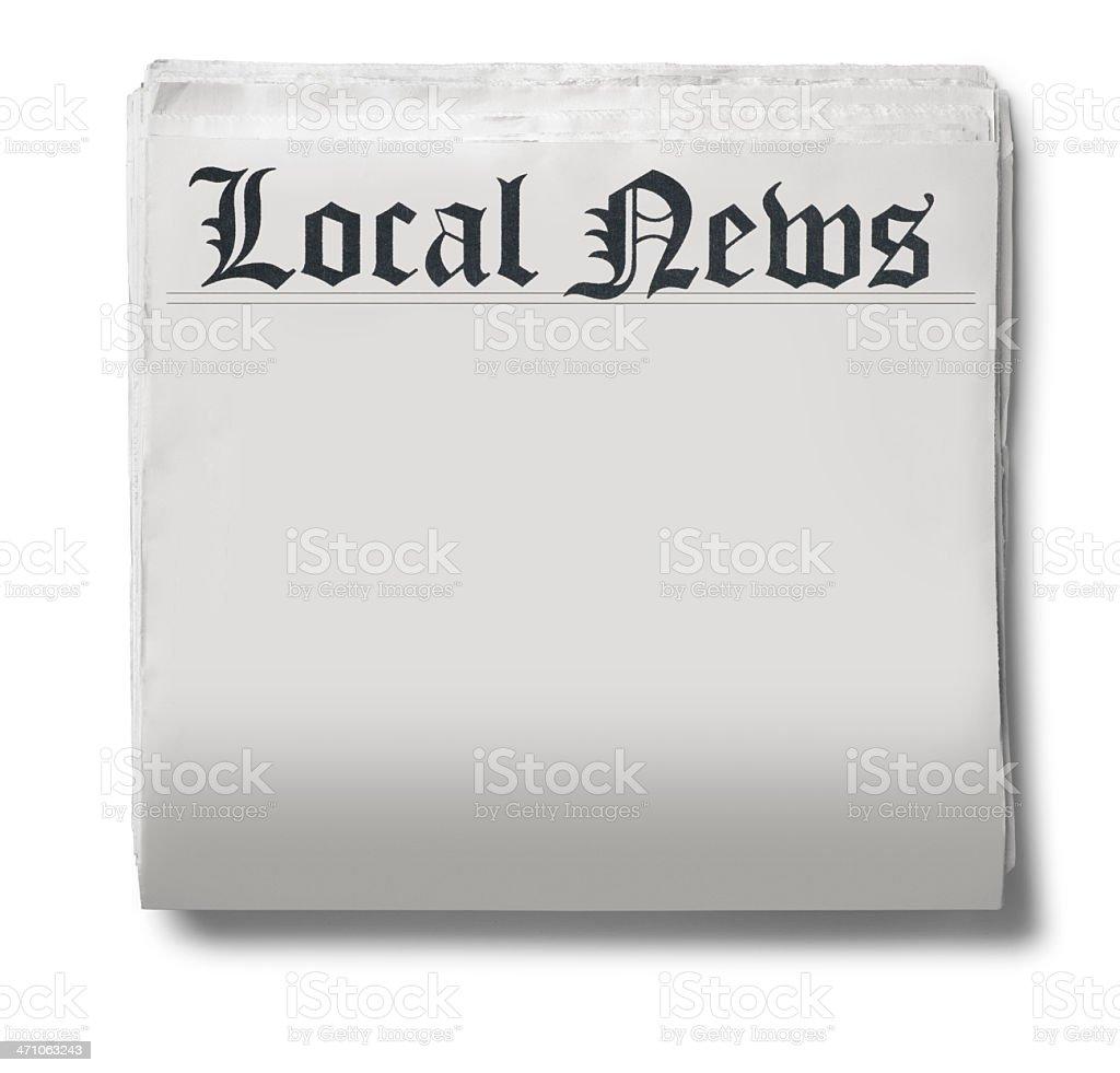 Local News royalty-free stock photo