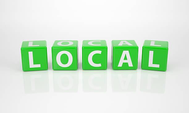 Lokale von grünen Buchstabe Dices – Foto