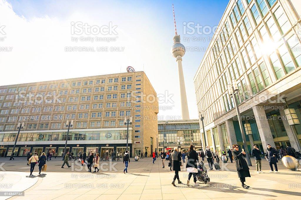 Local people and tourists walking in Alexander Platz - Berlin – Foto