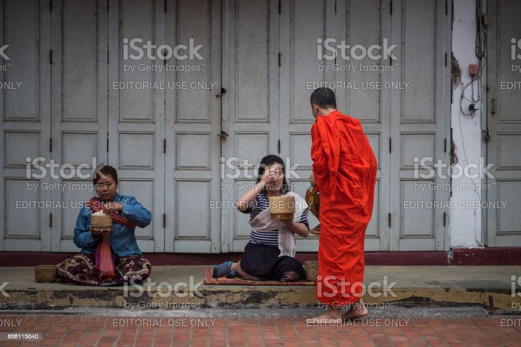 Local people in Luang Prabang stock photo