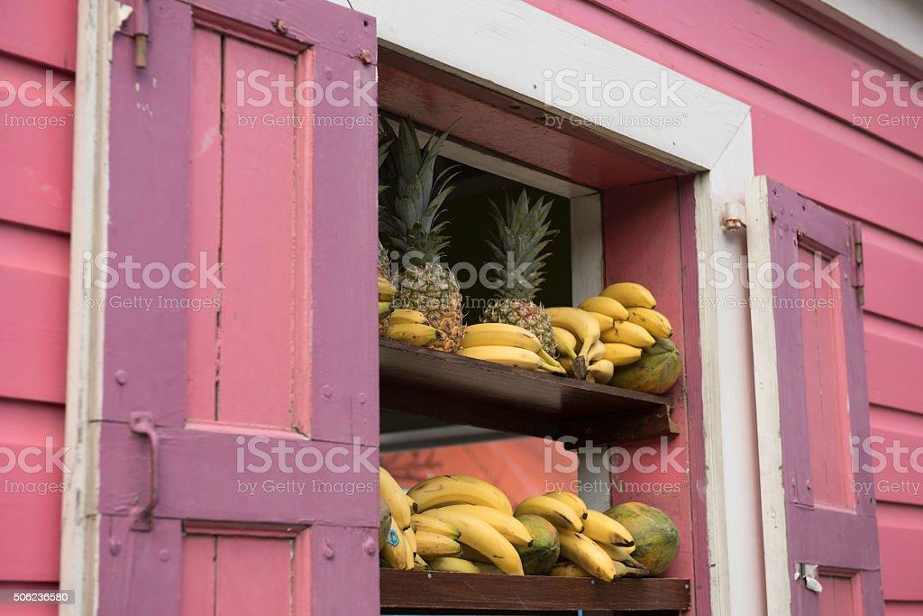 Local produce on sale stock photo