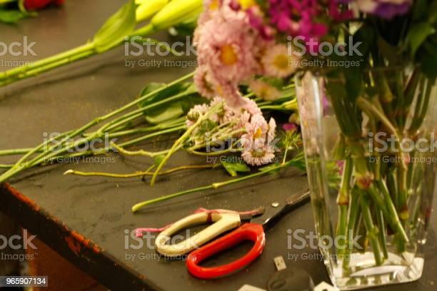 Lokala Professionella Florist Att Ordna En Personlig Bukett Med Inhemska Australiska Blommor Och Grönska-foton och fler bilder på Affär