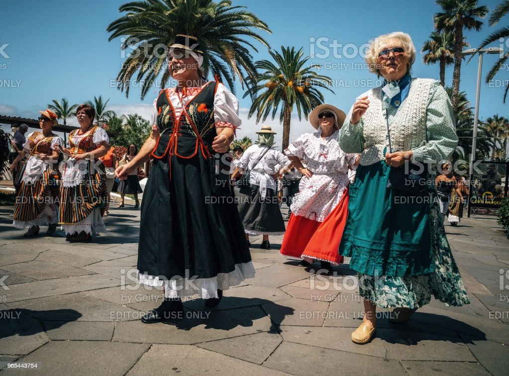 Local residents of Tenerife celebrate the Day of the Canary Islands, Tenerife royalty-free stock photo