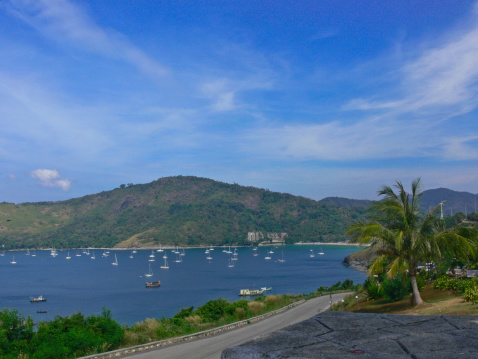 istock local road is meandering island in Phuket county,Thailand 182278629