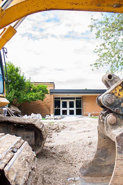 Local School construction stock photo