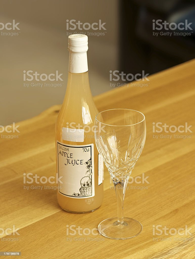 Local Somerset apple juice royalty-free stock photo