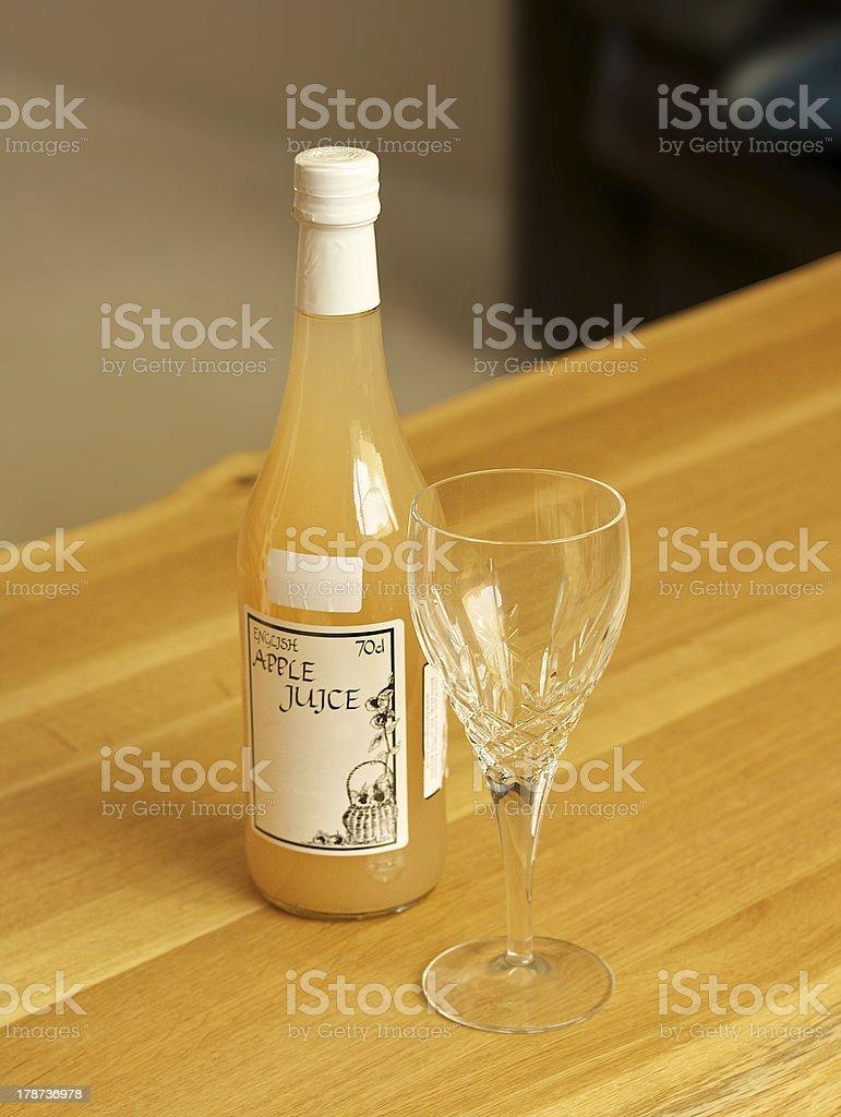 Local Somerset apple juice stock photo