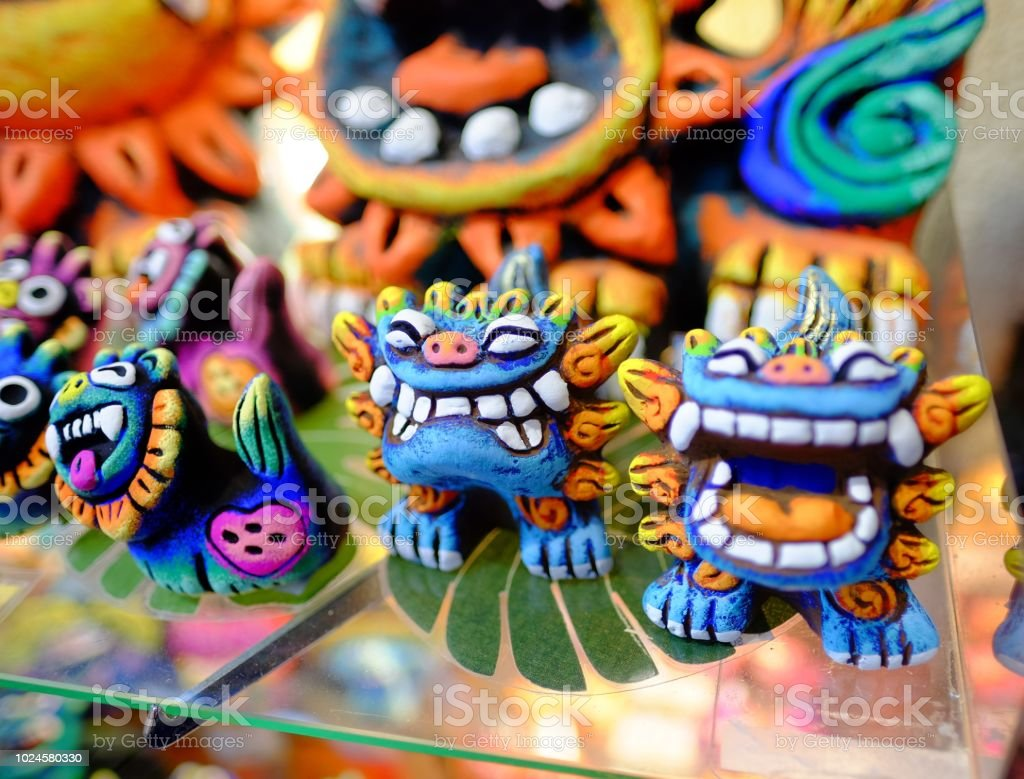 Local souvenir represent Japan Okinawa (pair of lucky lion) Local souvenir represent Japan Okinawa (pair of lucky lion) Abstract Stock Photo