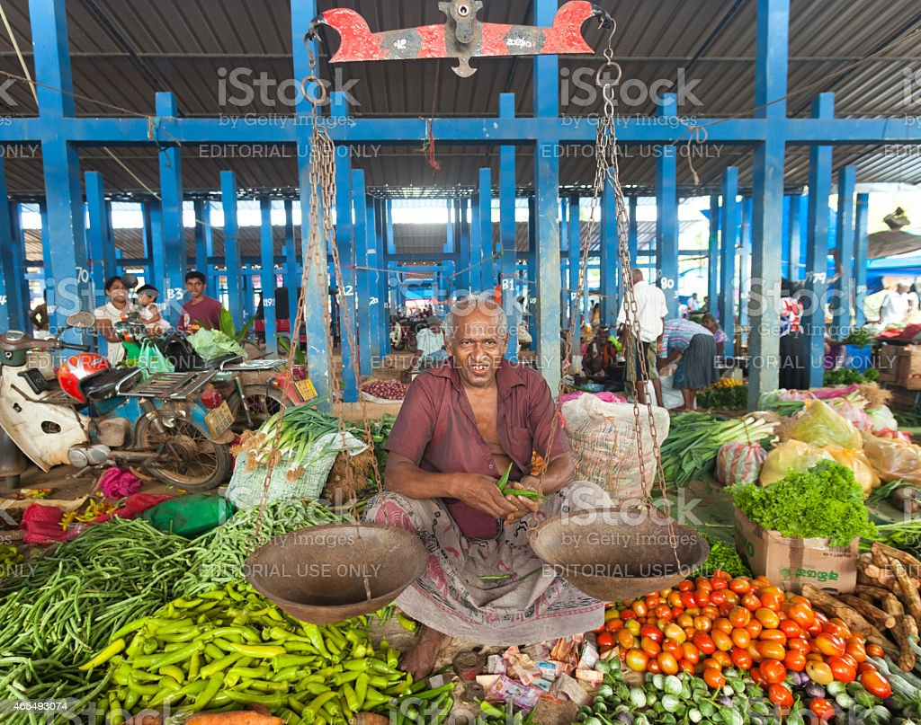 Local street vendor selling spices stock photo