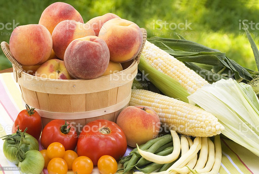 Local Summer Produce royalty-free stock photo