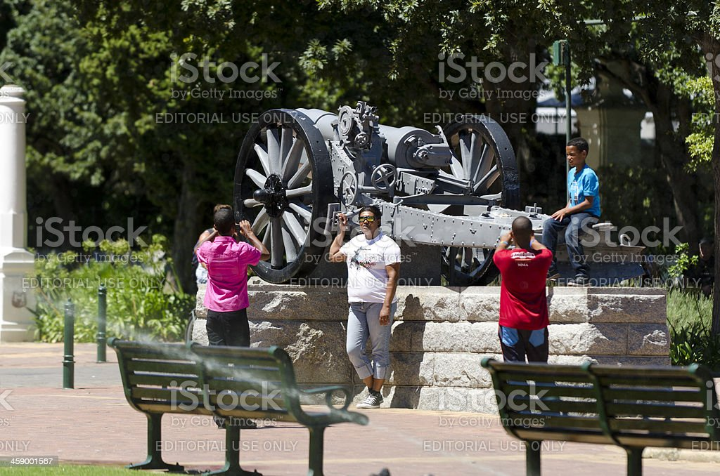 Local tourists in Cape Town Gardens royalty-free stock photo