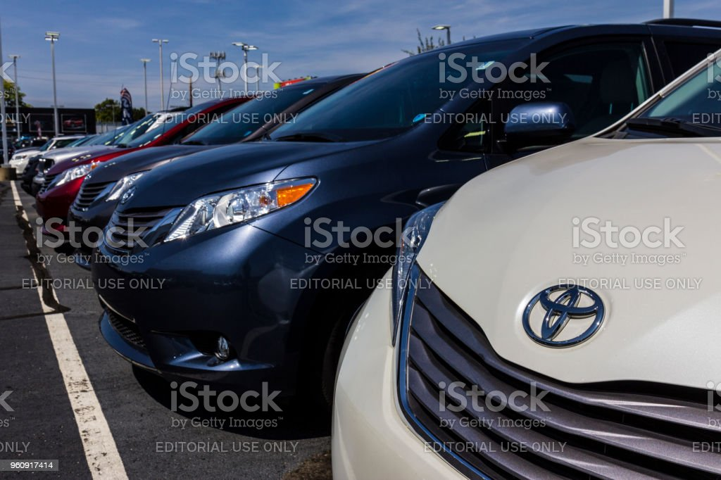 Local Toyota Car and SUV Dealership. Toyota is a Japanese Automaker Headquartered in Toyota, Aichi, Japan VI stock photo