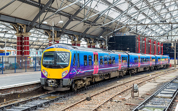 Local train at Liverpool Lime Street Train Station - England Local train at Liverpool Lime Street Train Station - England northwest england stock pictures, royalty-free photos & images