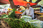 istock Local Vegetable market in India 491960200