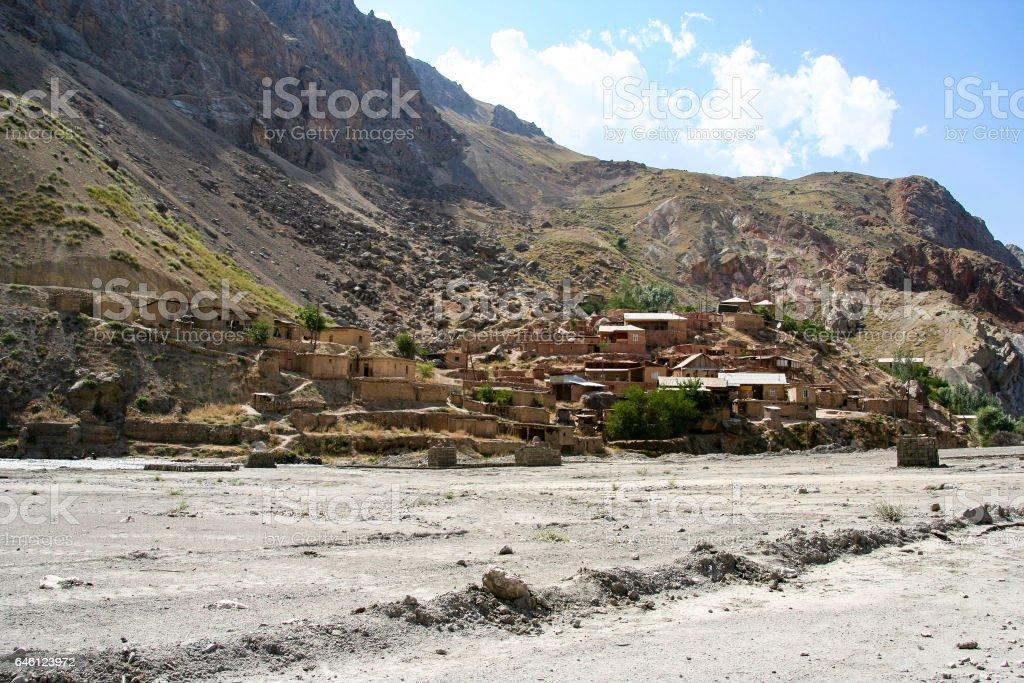Local village in Tajikistan stock photo
