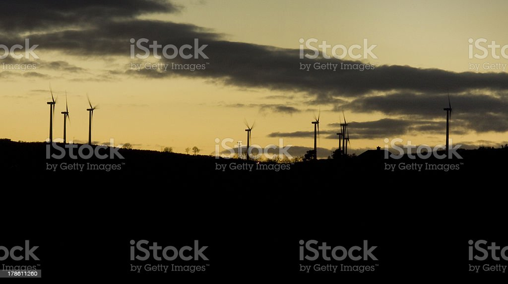 Local Wind Power Generation stock photo