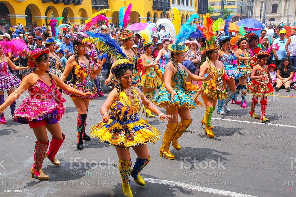 Local women dancing during Festival stock photo
