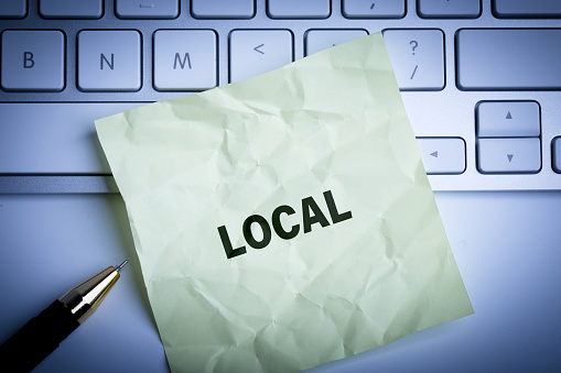 istock Local word write on the paper 1141679868