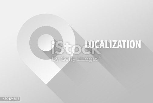 istock Localization tag location pin icon and widget 3d illustration 450424517