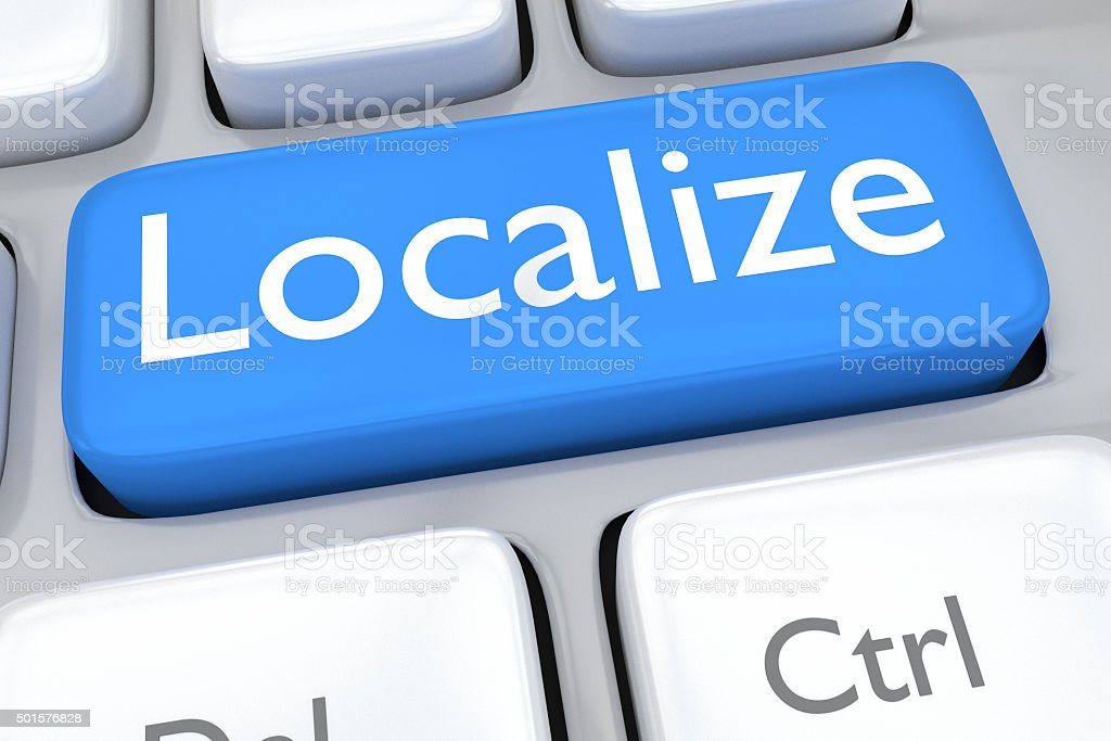 Localize concept stock photo