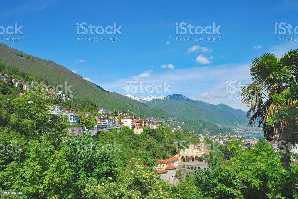 Locarno,Lake Maggiore,Ticino Canton,Switzerland stock photo