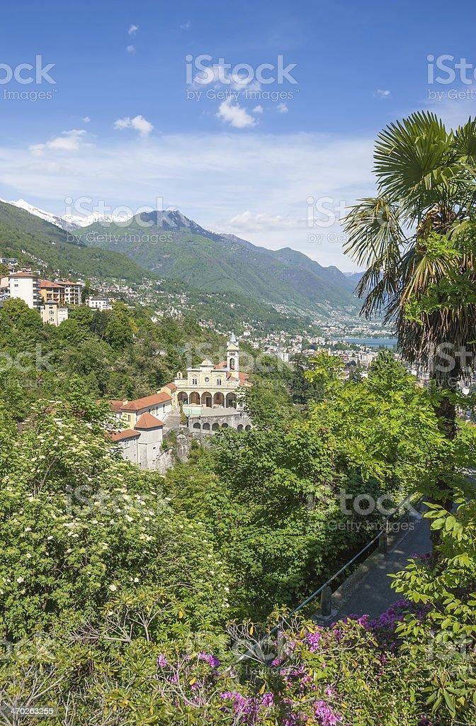 Locarno,Ticino Canton,Lake Maggiore,Switzerland stock photo