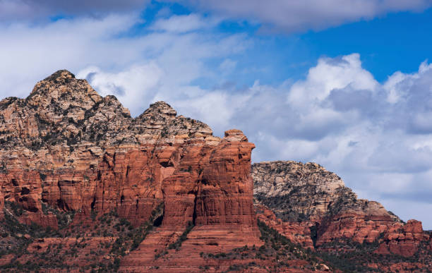 Located near the Western side of Sedona Arizona is the Coffee Pot Rock Formation. stock photo