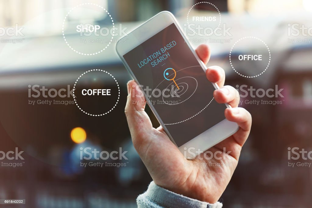 Location Based Search stock photo