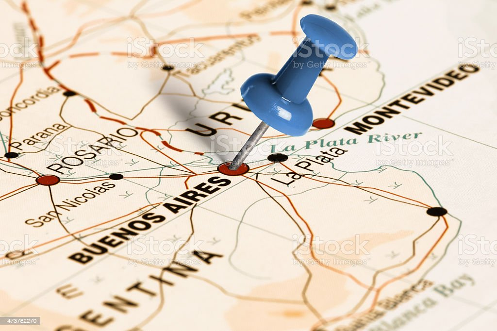 Location buenos aires blue pin on the map stock photo more location buenos aires blue pin on the map royalty free stock photo gumiabroncs Images