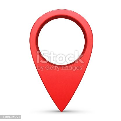 Internet location pin symbol isolated on white background