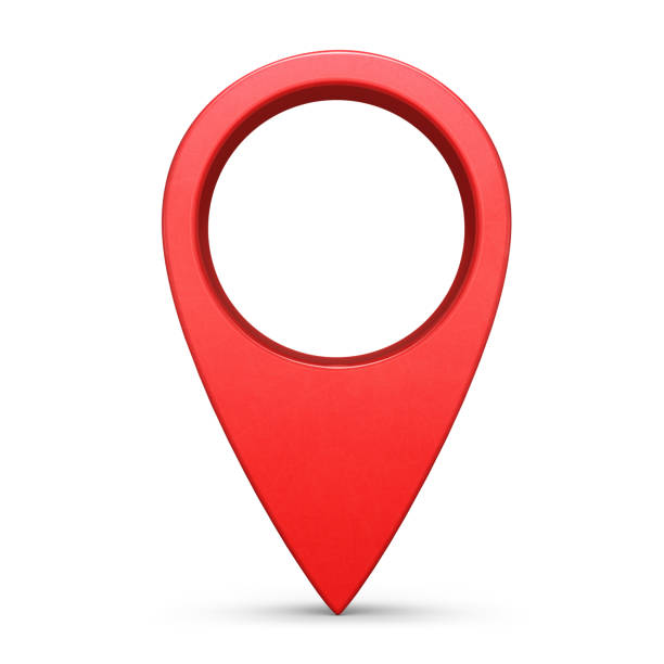 Location pin isolated on white background Internet location pin symbol isolated on white background straight pin stock pictures, royalty-free photos & images