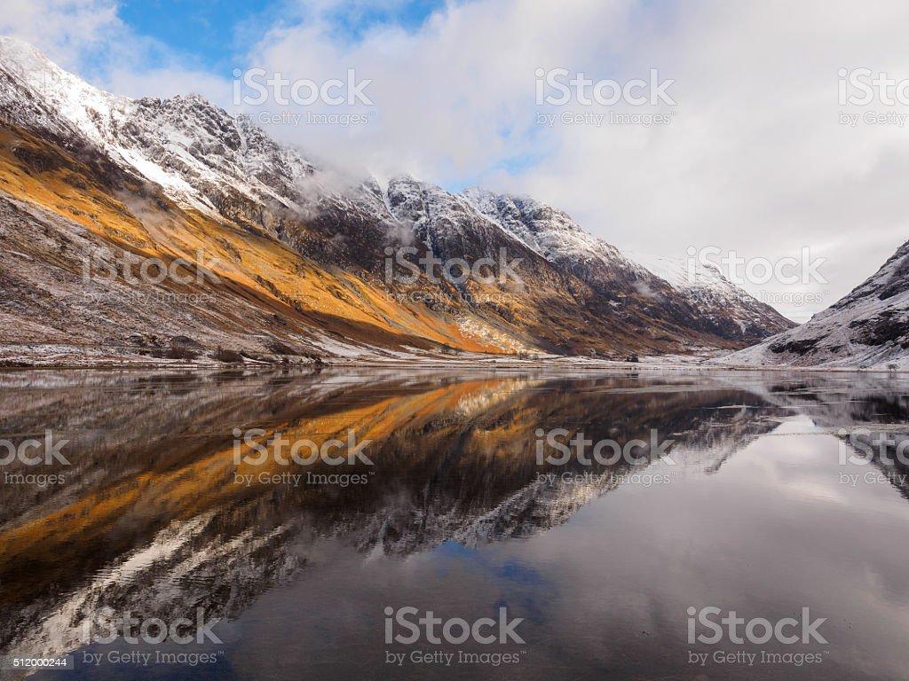 Loch Achtriochtan, Glencoe. stock photo