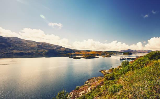 loch achtriochtan, glencoe, scotland, uk - see loch leven stock-fotos und bilder