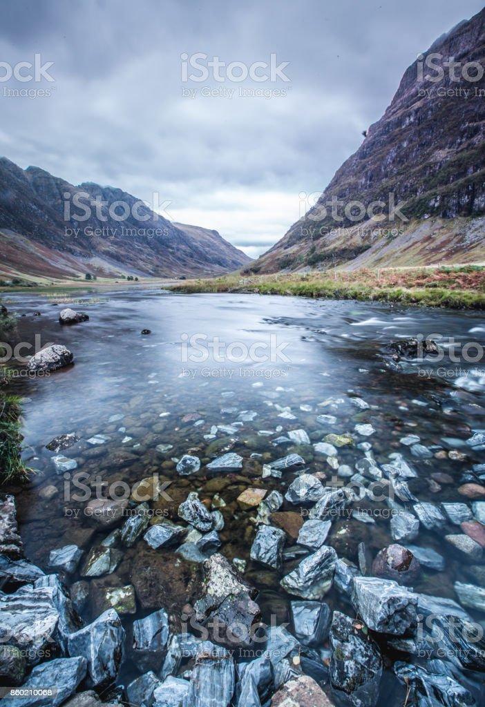 Loch Achtriochtan (Scotland) stock photo