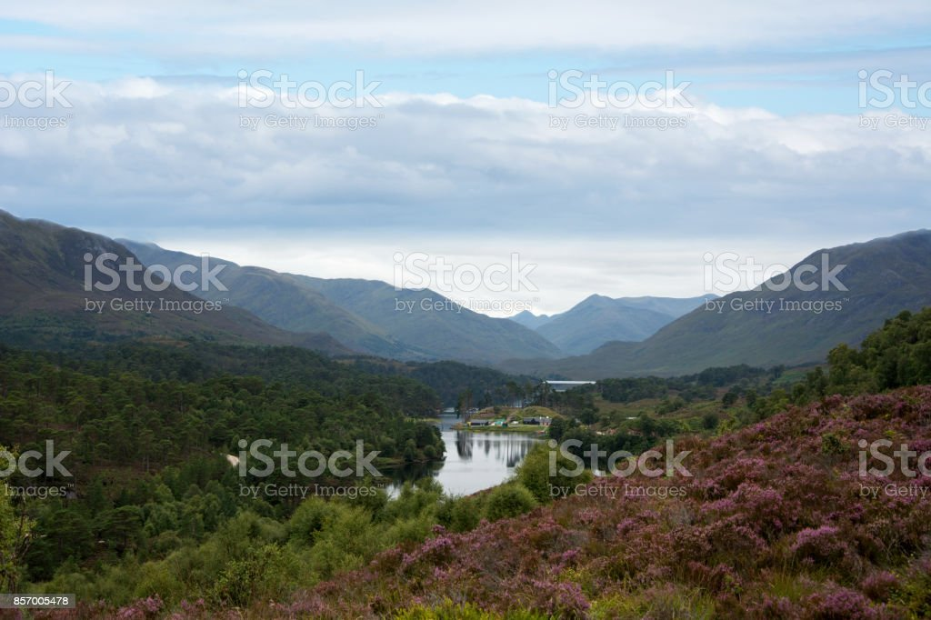 Loch Affric looking West stock photo