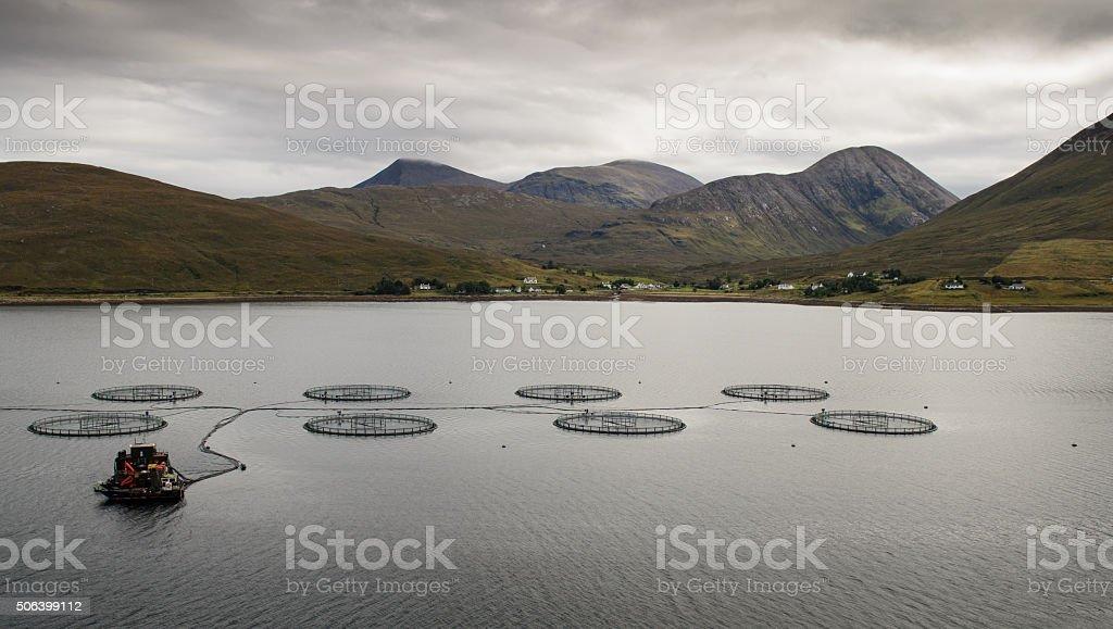 Loch Ainort pesca - foto de stock