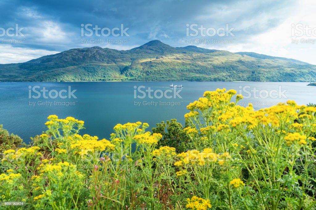 Loch Alsh and Isle of Skye Scotland stock photo