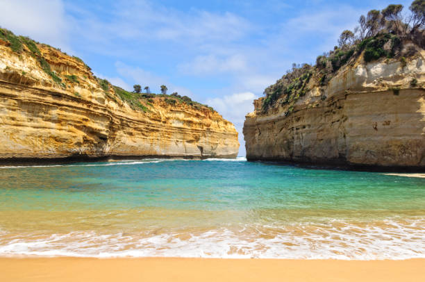 Loch Ard Gorge - Port Campbell stock photo