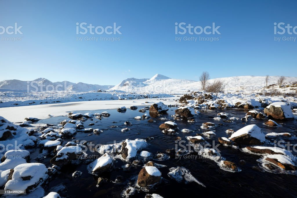 Loch Ba, Rannoch Moor, Scottish Highlands, Scotland, UK stock photo