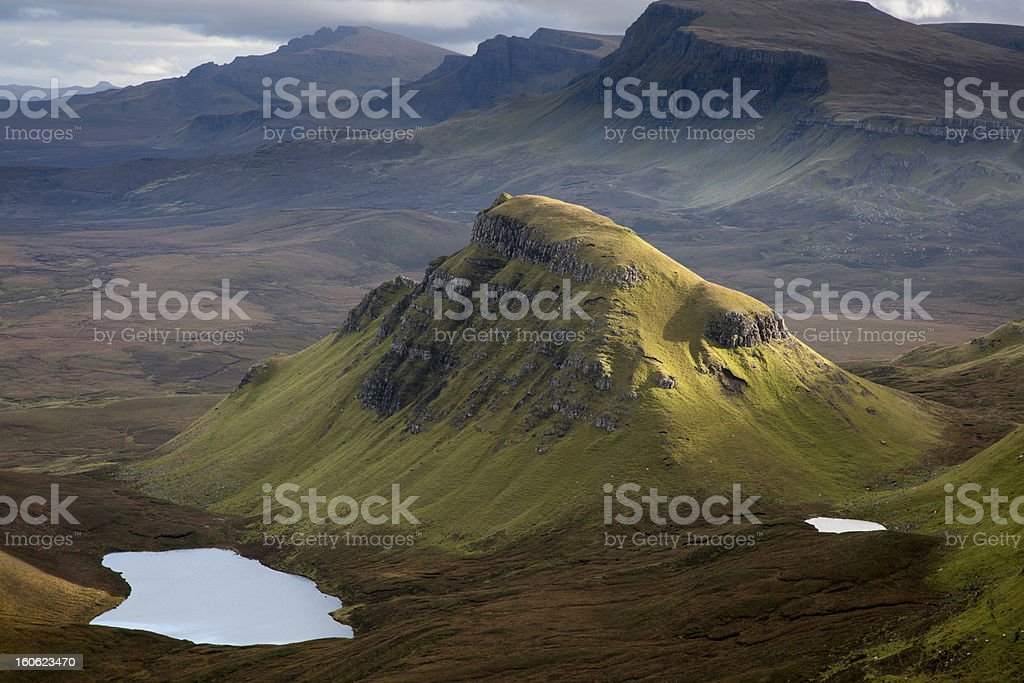 Loch Cleat and the Trotternish Ridge stock photo
