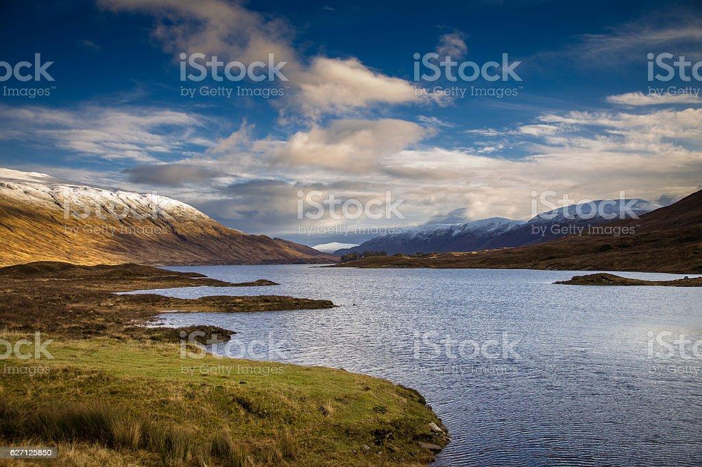 Loch Cluanie in Glen Shiel stock photo