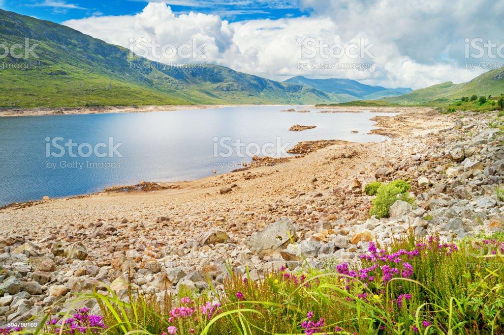 Loch Cluanie in the Scottish Highlands Scotland stock photo