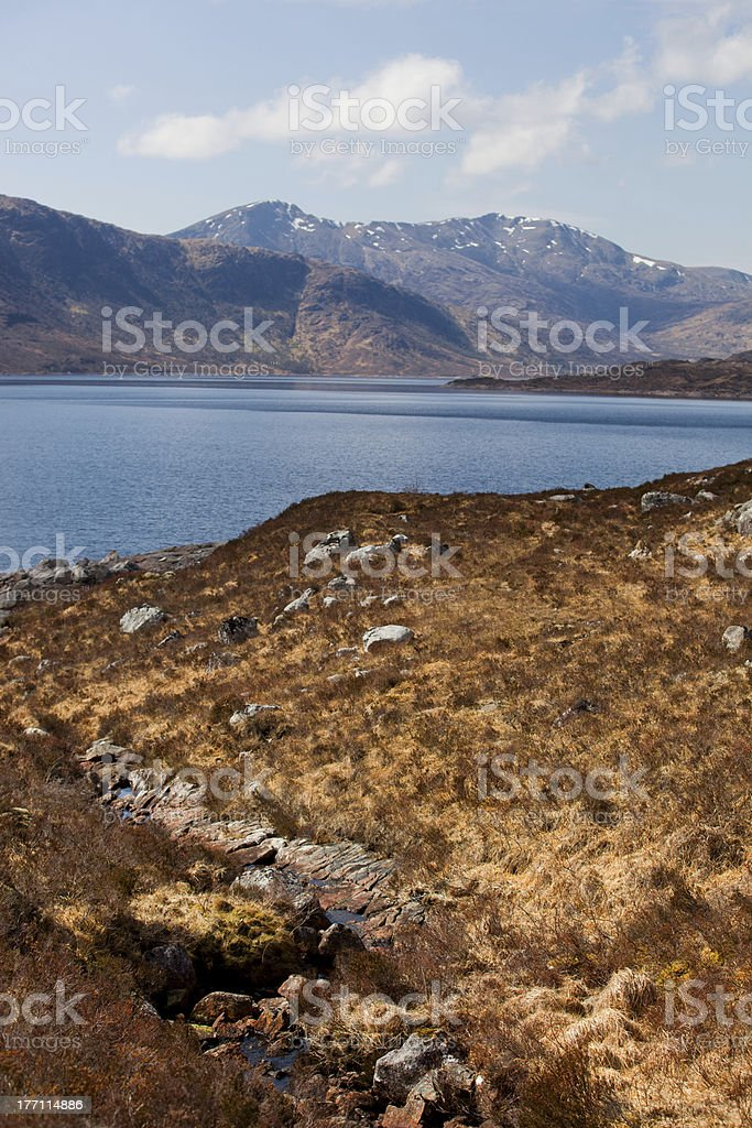 Loch Cluanie stock photo