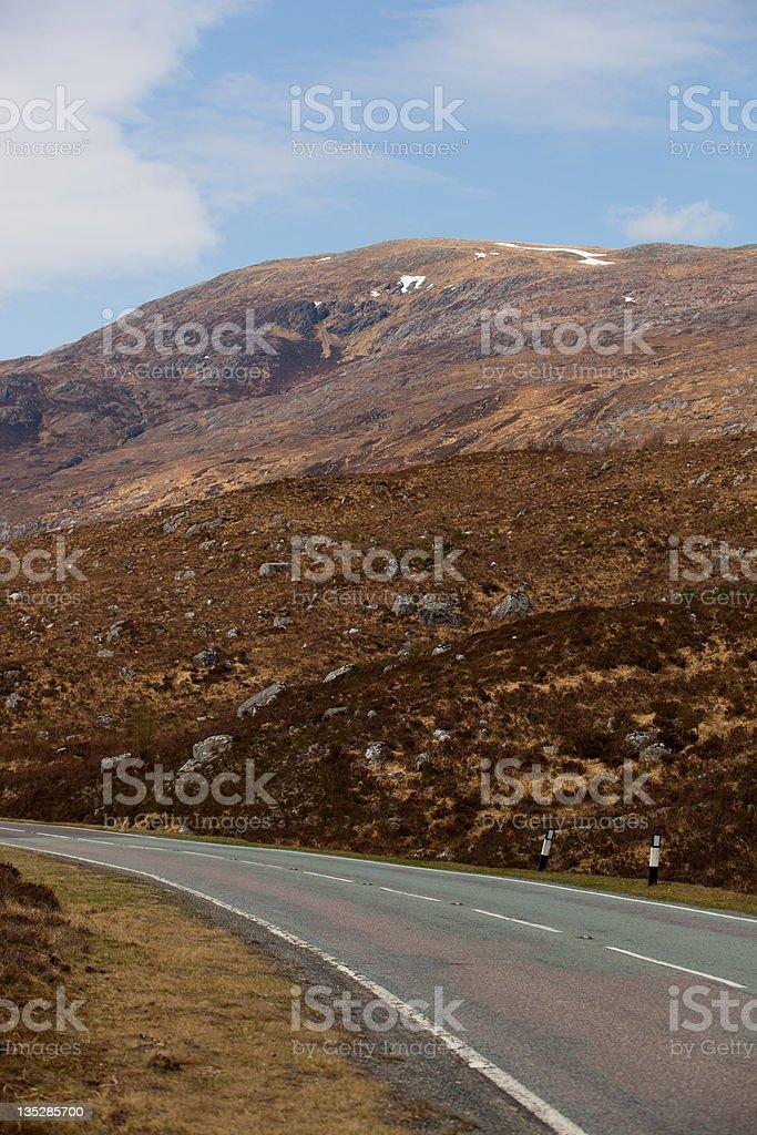 Loch Cluanie road stock photo
