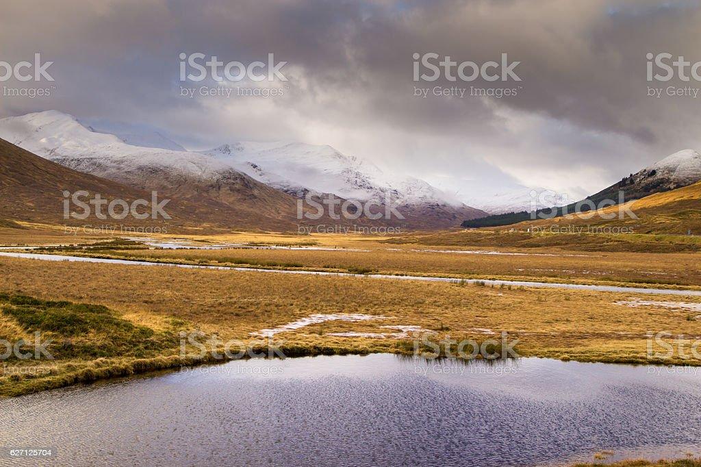 Loch Cluanie, Scottish Highlands stock photo