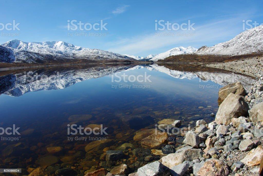 Loch Cluanie - Scottish Highlands stock photo